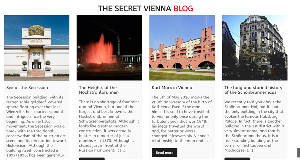Secret Vienna Blog
