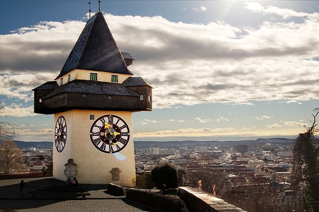 Clocktower in Graz